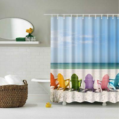 Fabric Shower Curtain Waterproof Seashell