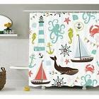 Shower Curtain Sets Fabric By Ambesonne, Whale Shark Seahors