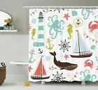 extra long shower curtain decor by sea