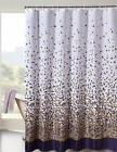 Fabric Shower Curtain Confetti Deep Purple, Gold, White and