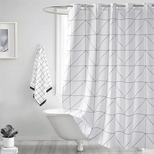 fabric shower curtain geometric
