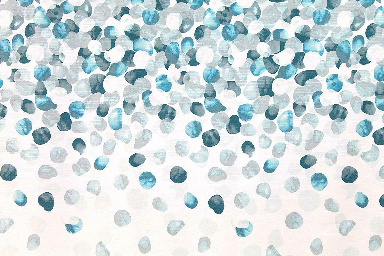 Geometric Cascading Pattern Teal Turquoise Aqua