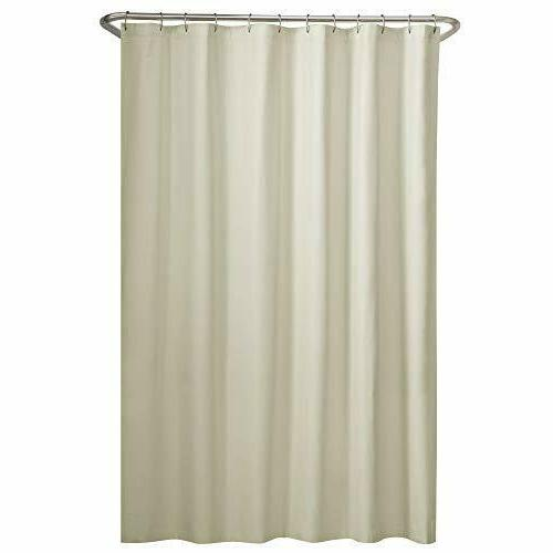Maytex Fabric Shower Curtain Liner, Bone , New, Free Shippin