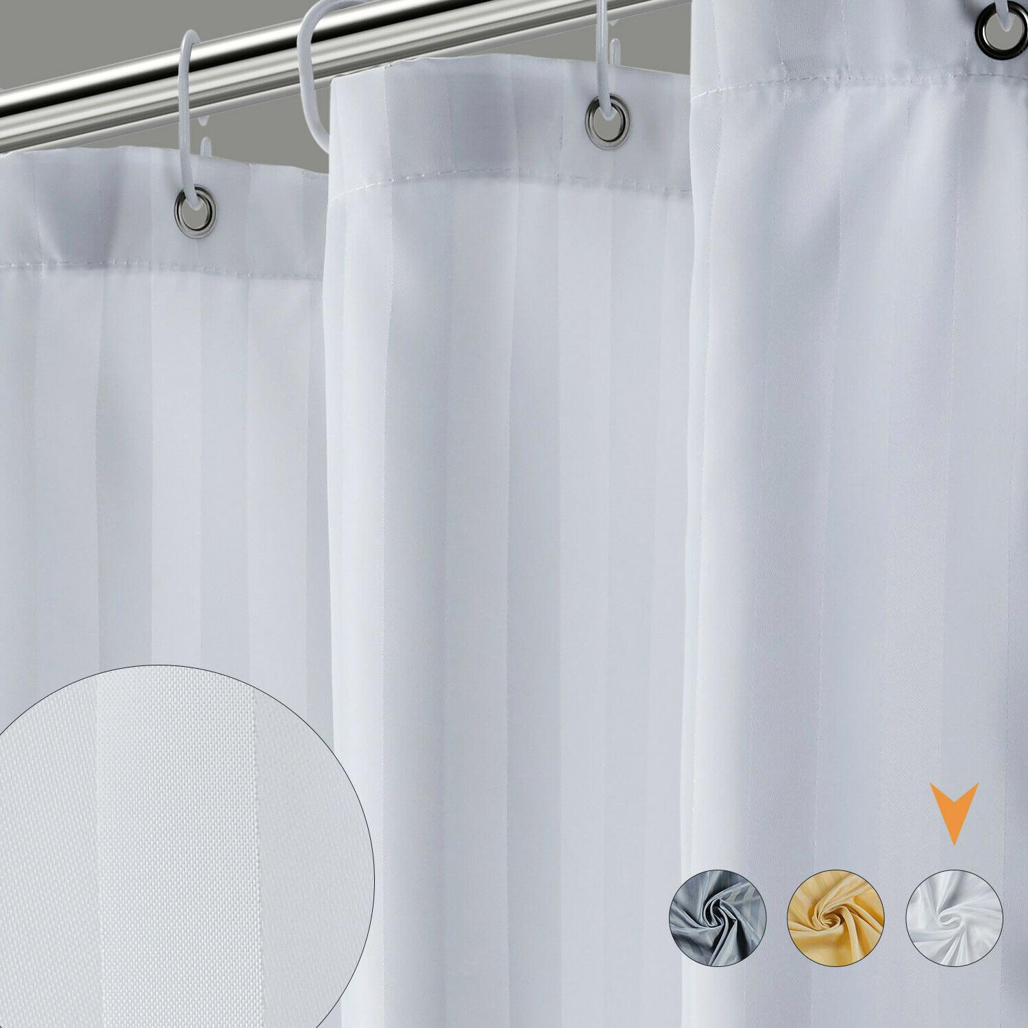 """Fabric Curtain Mildew Resistant With Hooks 72"""" 72"""""""