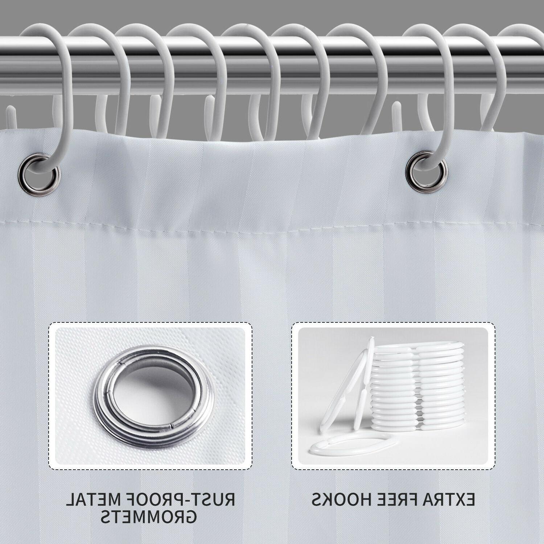 "Fabric Curtain liner Mildew Hooks Set 72"" x 72"""