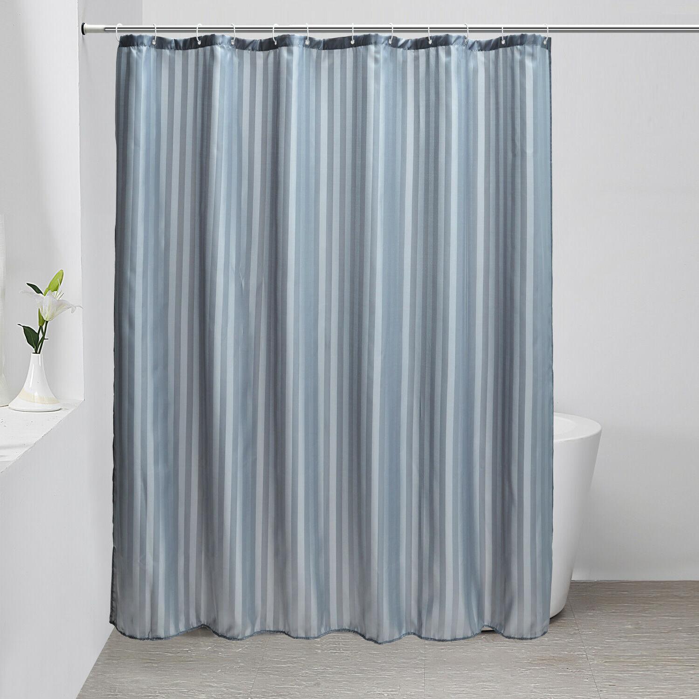 "Fabric Curtain liner Mildew Resistant Hooks 72"" x 72"""