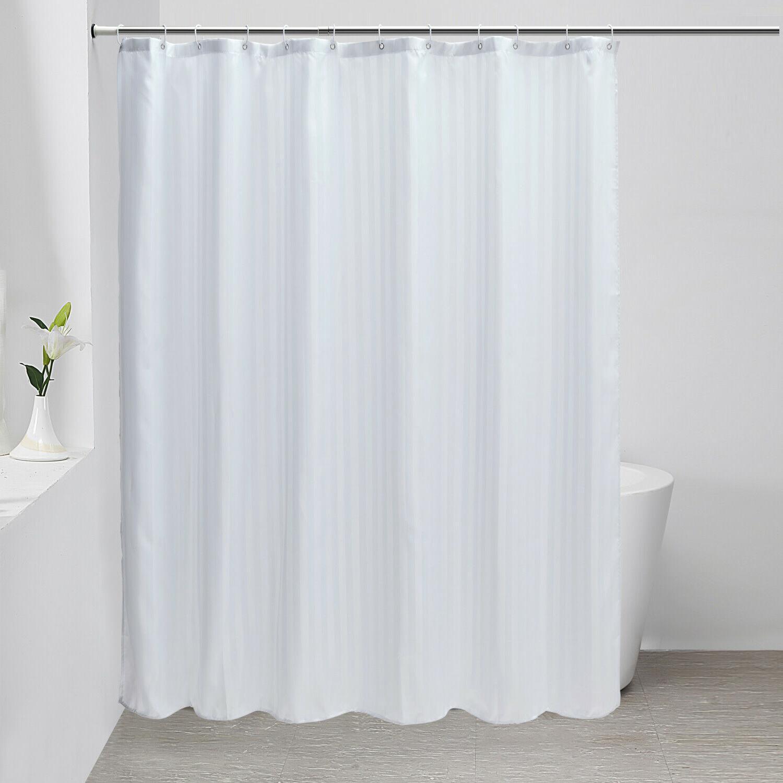 fabric shower curtain liner mildew resistant microfiber