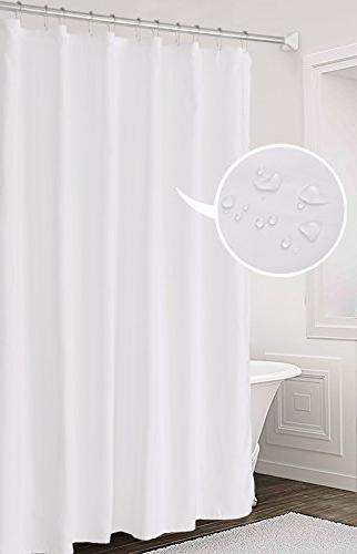 Fabric Curtain Liner Solid Hotel Mildew Resistant, Washable, Non-toxic, 72 inches for Bathroom