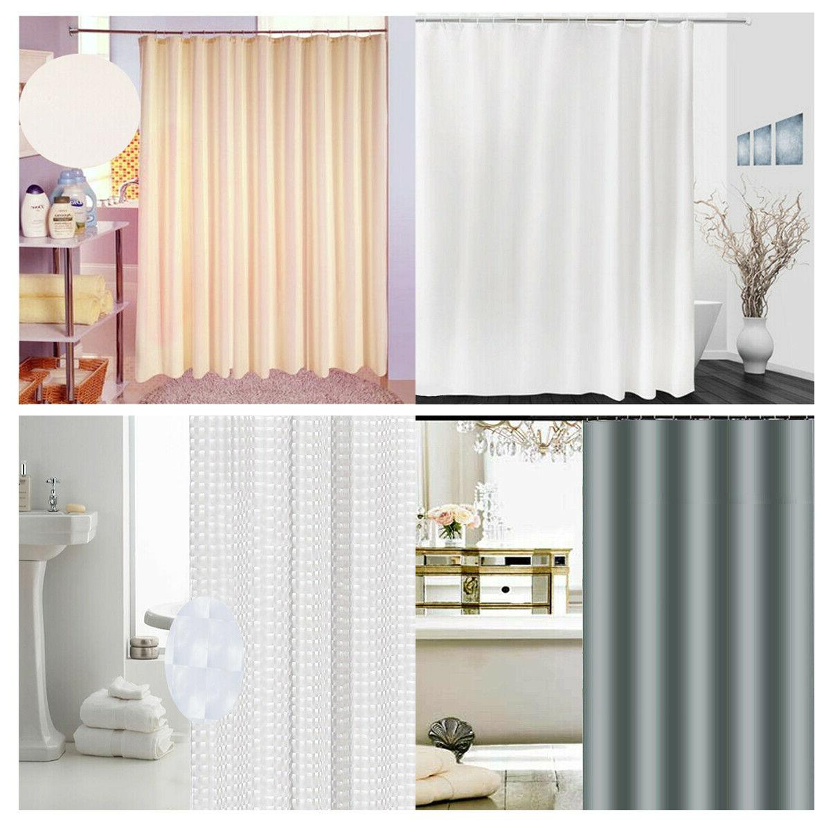 Fabric Shower Curtain Solid 72 x 72 for Bathroom Odorless