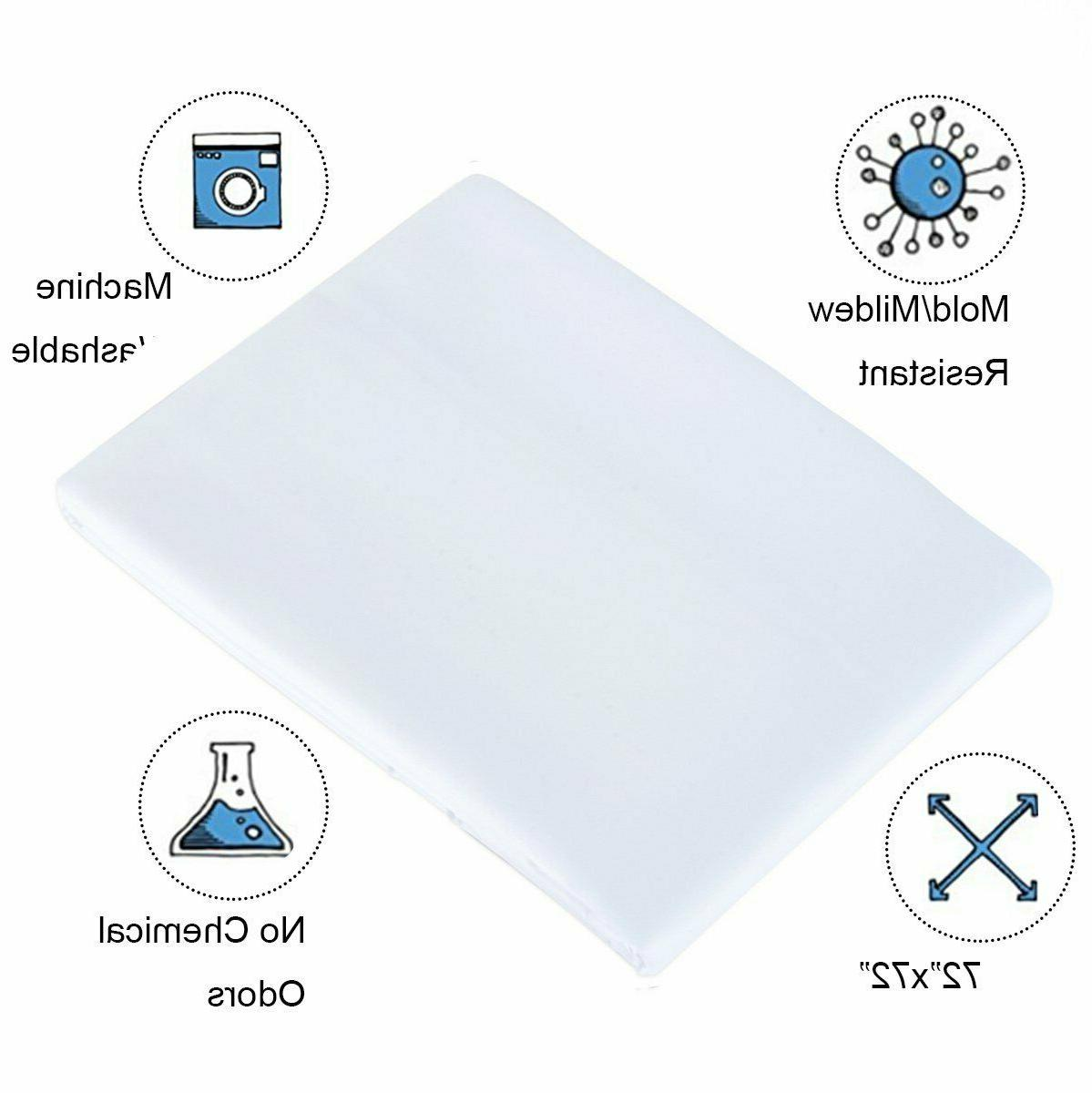 Fabric Solid PVC 72 x for Bathroom