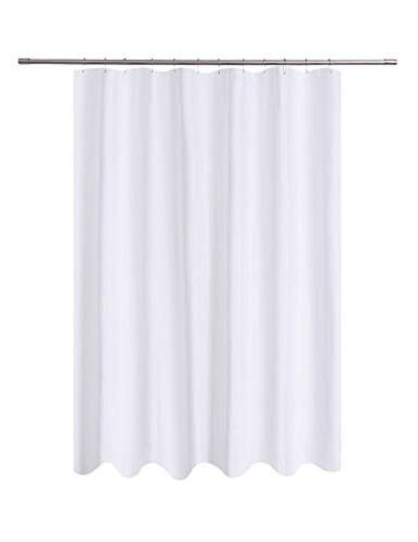 fabric shower curtain liner white