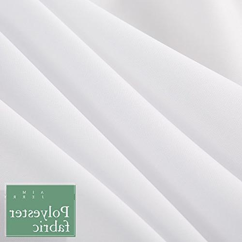 Aimjerry Fabric Mold White by inch Quality Waterproof Curtain