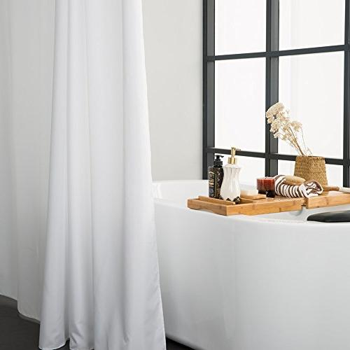 Aimjerry Shower Mold Resistant White by Quality Waterproof Curtain