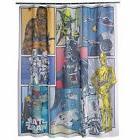 "Disney Star Wars Fabric Shower Curtain Polyester 70"" x 72"" W"