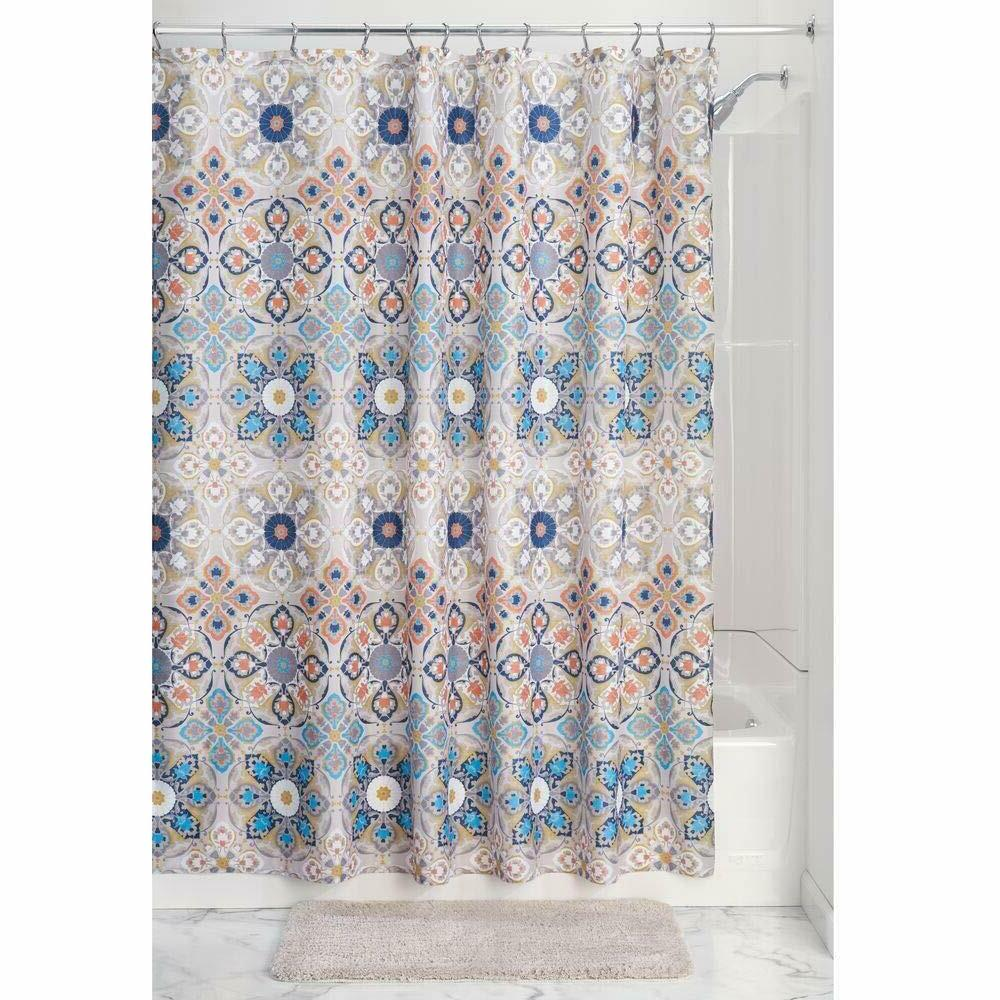Fabric Shower Curtain Blue Light