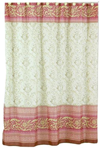 fabric shower curtain victorian 70 inch by