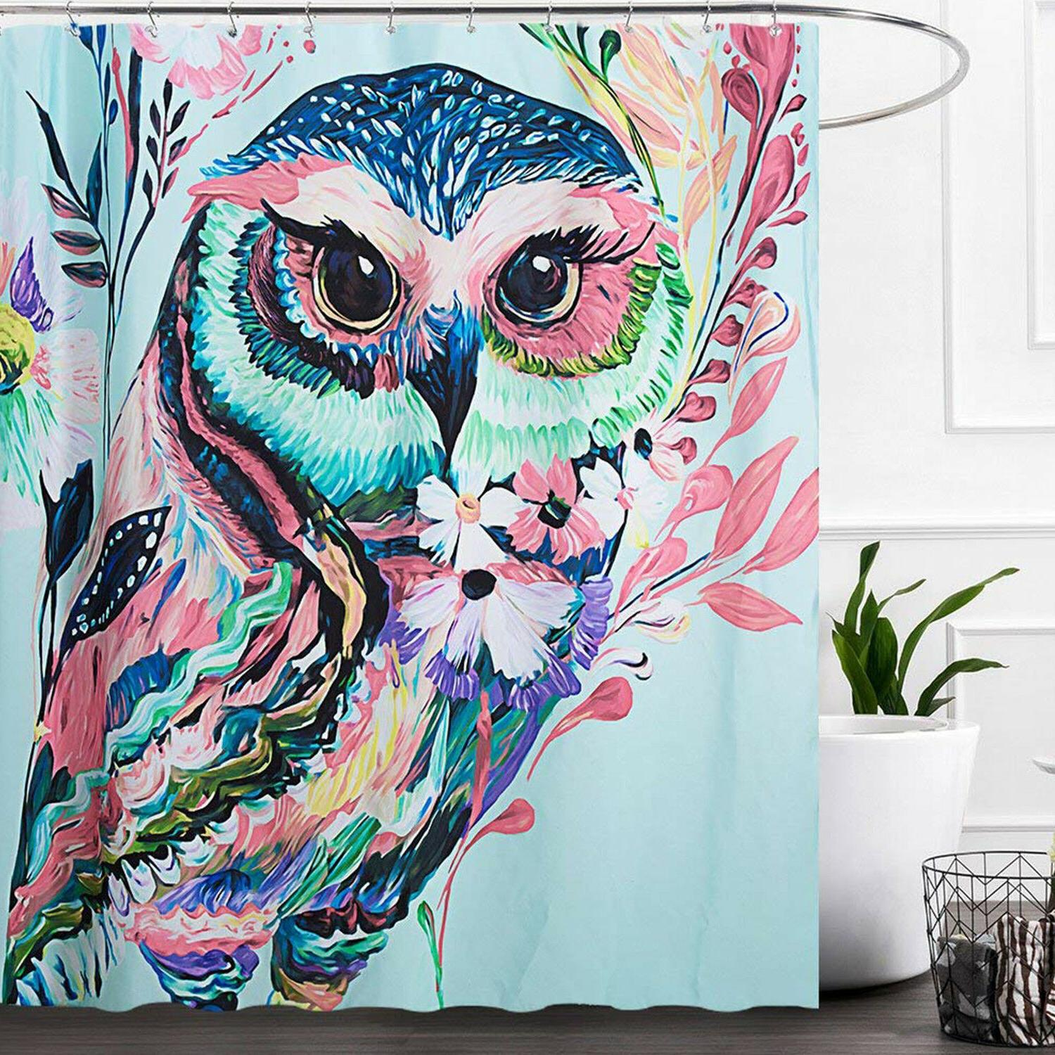 """Fabric Shower Curtain Waterproof Polyester 72""""x72"""" Colorful"""