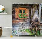 Ambesonne Farm House Countryside Shower Curtain Set