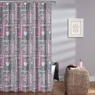 Lush Decor Fashion Shower Curtain - Pink