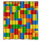 Fashionable lego blocks Custom Shower Curtain Rings Included