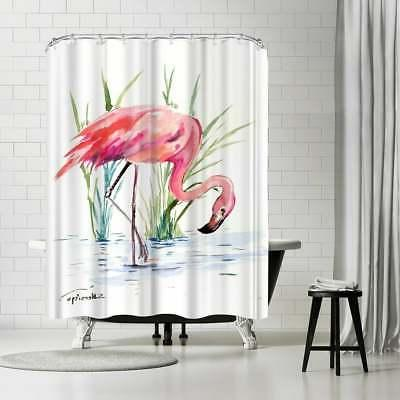 flamingo 4 shower curtain