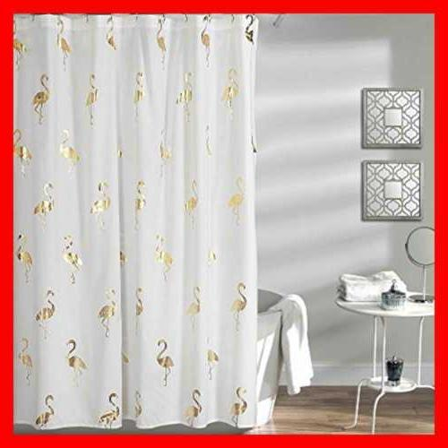 "Lush Decor Flamingo Shower Curtain 72"" X GOLD FREE SHIPPING"