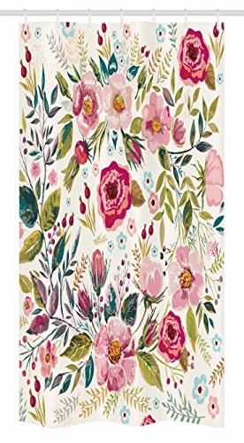 floral stall shower curtain