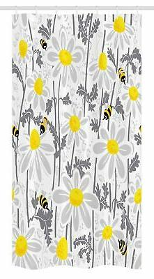 Flowers Stall Shower Curtain Daisy Leaf Spring Time Print fo
