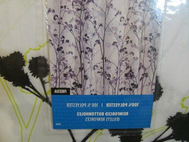 "InterDesign Freesia Shower Curtain, 72"", Buttonholes"