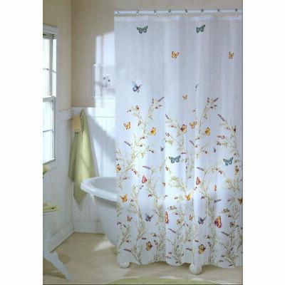 garden flight peva shower curtain butterfly shower