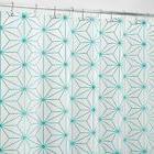 """mDesign Geometric Waterproof PEVA Shower Curtain - 72"""" x 72"""""""