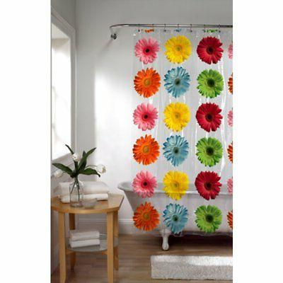 gerber daisy peva shower curtain