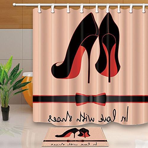 f4226ceafcc21 KOTOM Fashion Girls Decor,Black Women High Heels Female
