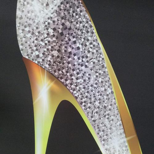 KOTOM Girly Decor Curtain, Lady Heel Set