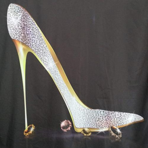 KOTOM Girly Curtain, Lady Heel Shoe Diamonds, Set