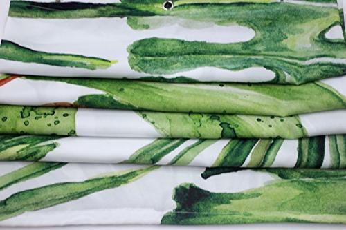 Goodbath Green Leaf Mildew Resistant Waterproof Fabric x