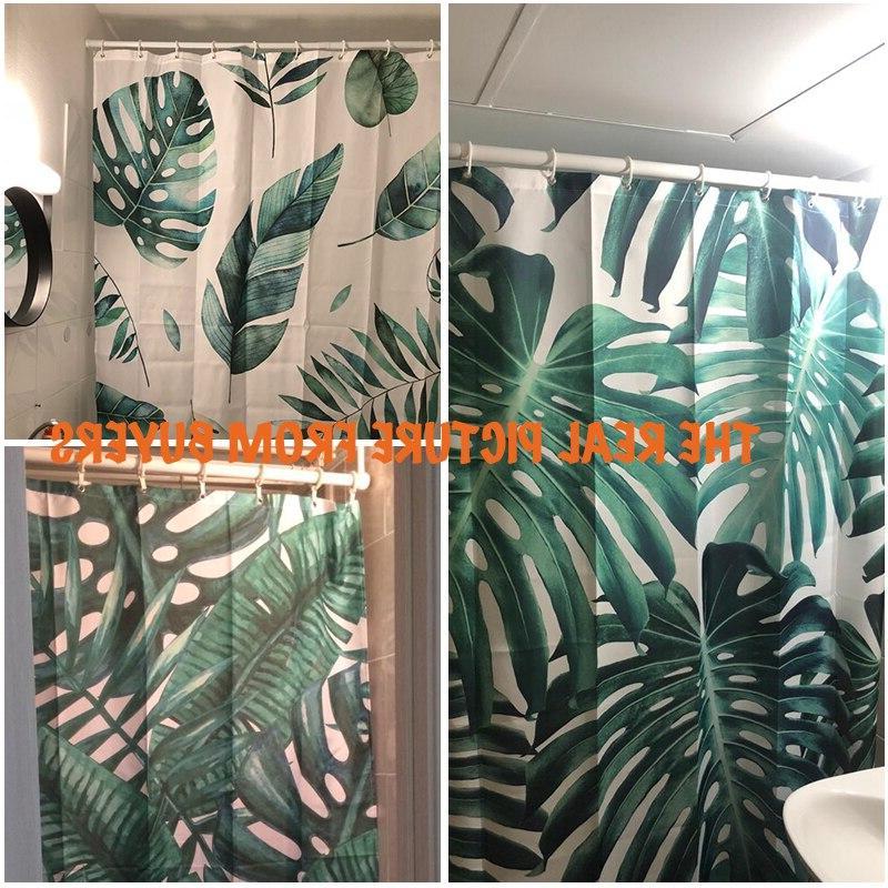 Green Plants <font><b>Shower</b></font> <font><b>Curtain</b></font> Waterproof <font><b>Shower</b></font> Leaves <font><b>Curtains</b></font> <font><b>shower</b></font>
