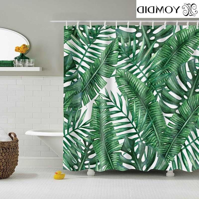 green tropical plants font b shower b