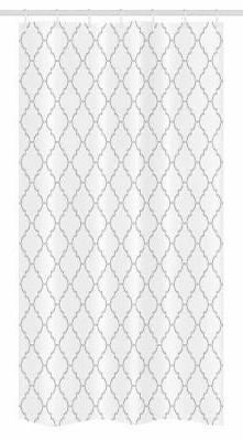 Ambesonne Grey Stall Shower Curtain, Simple Monochrome Patte