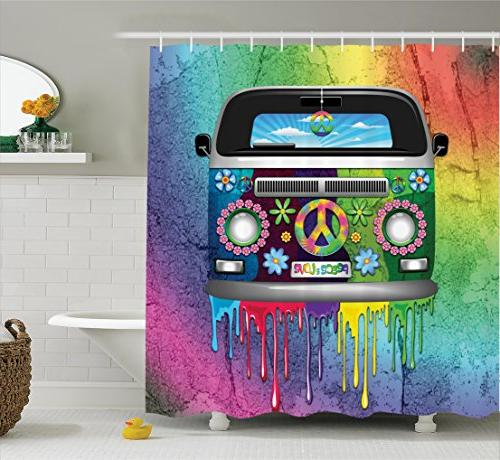 groovy decorations shower curtain set