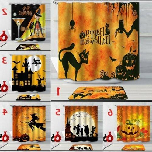 Halloween Terror 3D Printed Horror Bathroom Shower Curtain P