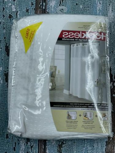 Hookless Waffle Fabric Shower Curtain Size