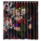 Harley Quinn and Joker Bath Polyester Fabric Shower Curtain