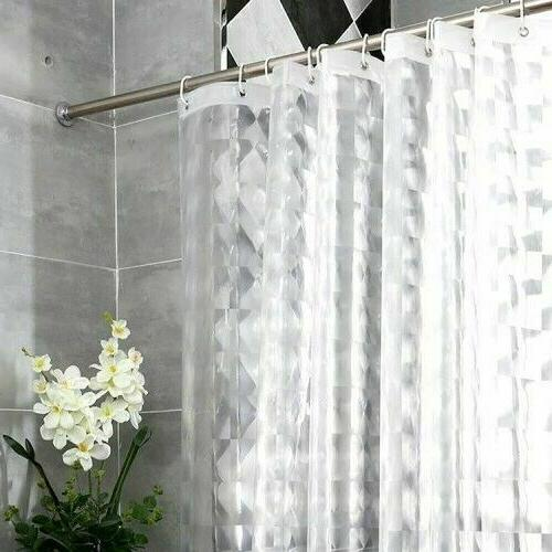 heavy duty eva shower curtain liner 3d