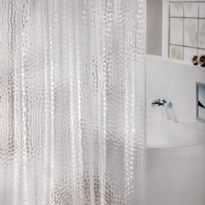 Heavy Duty Curtain Liner Waterproof 3D Water Cube Clear