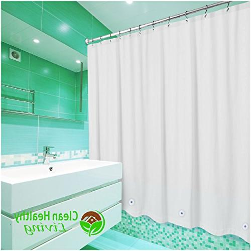 Clean Healthy Living PEVA Shower with suction magnets in place. 70 x long - color
