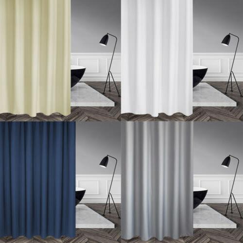heavy duty fabric shower curtain set waterproof