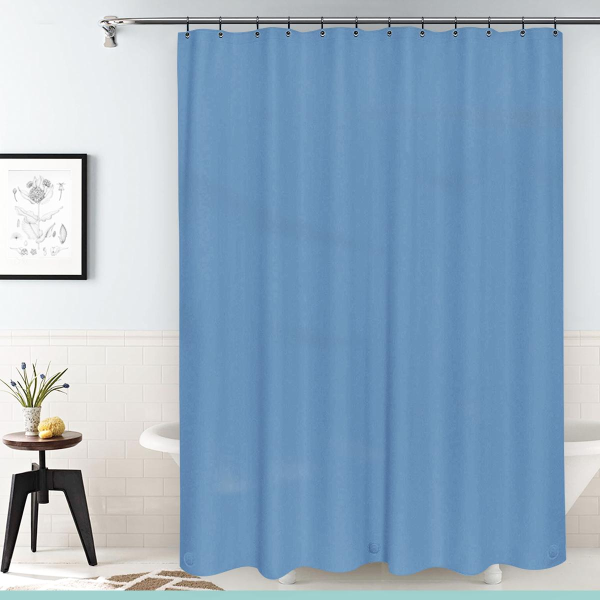"""NEW Deluxe Shower Curtain Liner Grommets 70""""X NEW"""