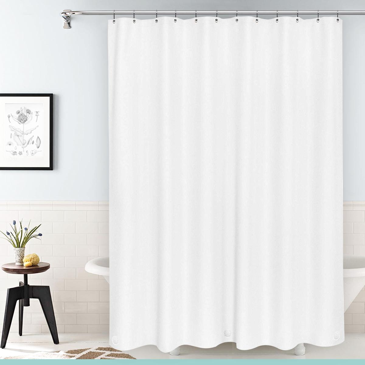 heavy duty mildew free waterproof shower curtain