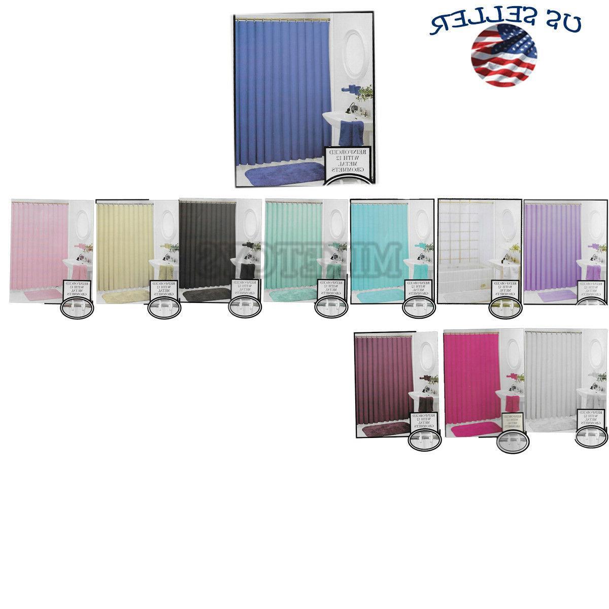 heavy duty vinyl magnetic shower curtain liner